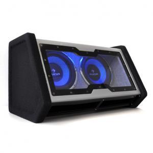 "Doble Subwoofer 2x25cm (2x10"") 2000W iluminación LED 25 cm (10"")"