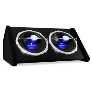 "Subwoofer doble Auna 2 x 12 pulgadas efectos LED. 2000 W. 30 cm (12"")"