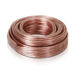 Cable de altavoz 4 x 2,5 mm² transparente 10m