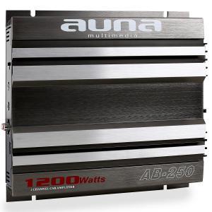 Amplificador coche Auna AB-250 de 2 canales. 1200 W max. 2