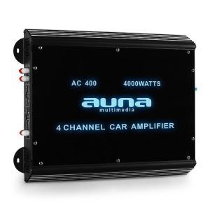 Amplificador coche Auna W2-AC400 4 canales LED. 4000 W. 4_0