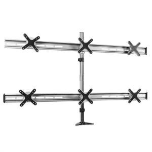 Soporte de mesa Auna ET01-C06 para 6 monitores <6x8kg