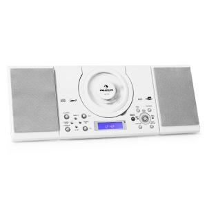 MC-120 Cadena estéreo MP3 CD USB Montaje pared Blanco Blanco