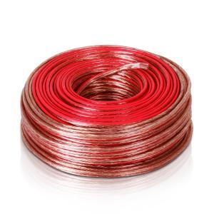 Cable de altavoz 2x2,5mm² transparente 50m