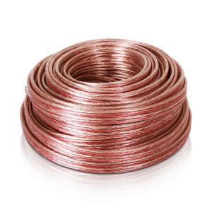 Cable de altavoz 4x2,5mm² transparente 25m