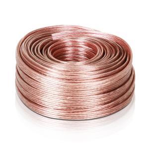 Cable de altavoz 4 x 2,5 mm² transparente 50m