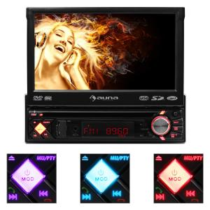 MVD-200 autoradio radio para coche bluetooth reproductor DVD negro