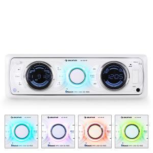 MD-170-BT Radio para coche MP3 USB SD RDS AUX blanco