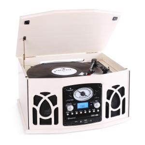 NR-620 Cadena estéreo tocadiscos grabación MP3 beige Crema