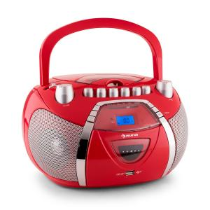 Beeboy Radiocasete CD MP3 USB rojo