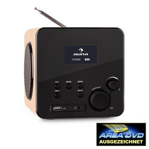 Radio Gaga radio internet reproductor multimedia wifi dab+ usb marrón claro