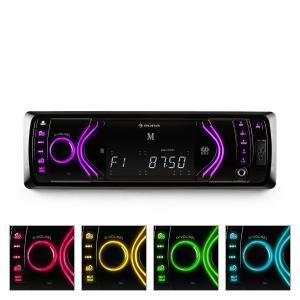 MD-130 Radio de coche Bluetooth SD USB AUX RDS 7  Negro