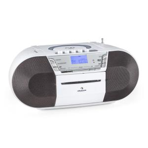 Jetpack Radiocasete portátil USB CD MP3 FM Funcionamiento a pila blanco