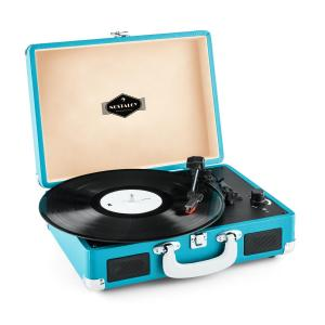 Peggy Sue tocadiscos retro LP USB azul Azul