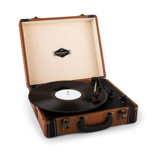 Jerry Lee tocadisco retro giradiscos vintage LP USB marrón claro Marrón