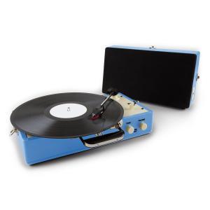 Nostalgy Buckingham Tocadiscos maletín retro AUX Azul