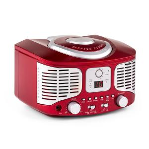 RCD320 Reproductor de CD retro FM AUX Rojo Rojo