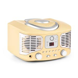 RCD320 Reproductor de CD retro FM AUX Crema Crema