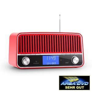 Nizza DAB+ Radio estilo clásico Bluetooth FM AUX 2.1 Subwoofer Rojo