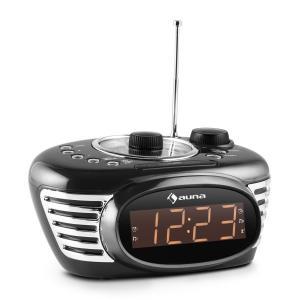 RCR 56 RD Radio despertador Retro FM/AM AUX Alarma dual negro
