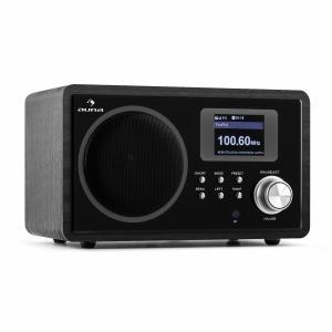 IR-150 Radio por Internet VHF DLNA WLAN Retro Mando a distancia Negro