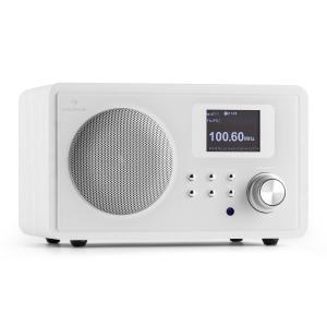 IR-150 Radio por Internet FM DLNA WLAN Retro Mando a distancia Blanco