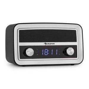 Caprice BK Radio despertador retro Bluetooth FM USB AUX Negro