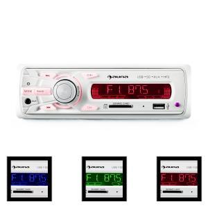MD-120.2WH Radio de coche USB SD MP3 4x75 W máx. Line-Out