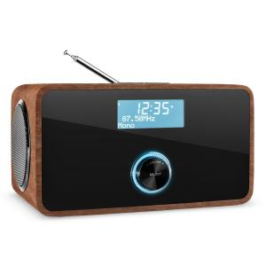 DABStep DAB/DAB+ Radio digital Bluetooth FM RDS Despertador color nuez Nogal