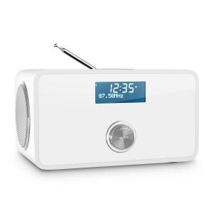 DABStep DAB/DAB+ Radio digital Bluetooth FM RDS Despertador blanco Blanco