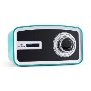 Sheffield azul Radio digital retro DAB+ FM Funcionamiento pila Turquesa