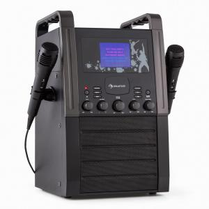 KA8B-V2 BK equipo de karaoke portatilCD AUX negro