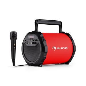 DR. Bang! 2.1 Altavoz Bluetooth USB SD AUX Batería Micrófono rojo incl. Rojo