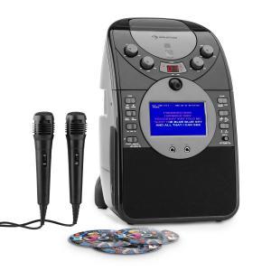 ScreenStar Equipo de karaoke Cámara CD USB SD MP3 incl. 2 x micrófonos 3 x CD+G