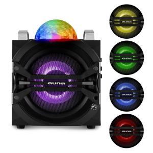 DisGo Box 65 Sistema de audio para fiestas Batería Bluetooth USB FM Efectos de luz LED