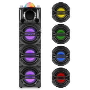 DisGo Box 365 Sistema de audio para fiestas Batería Bluetooth USB FM Efectos de luz LED