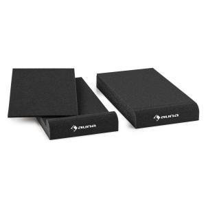 """IsoPad 12,7 cm Pareja de gomaespuma acústica inclinación 4/8° antracita 13 cm (5"""")"""