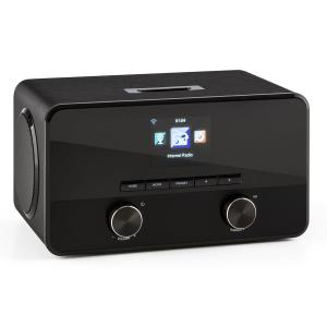 Connect 100 Radio Internet Reproductor multimedia Bluetooth WLAN USB AUX Line Out Negro