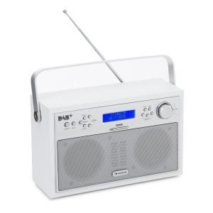 Akkord Radio digital portátil DAB+/PLL-FM Radio Alarma LCD blanca Blanco