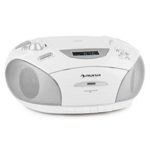 RCD220 Boombox CD USB reproductor de cassette radio PLL FM MP3 blanco Blanco