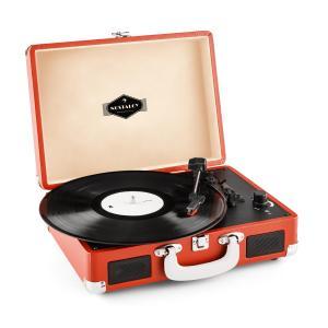 Peggy Sue Red Tocadiscos retro Vinilo LP USB Line Out Naranja oscuro