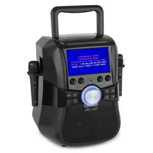 """Stage Hero Sistema de karaoke DVD 7""""Bluetooth 2 micrófonos 25 W RMS"""