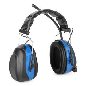 Jackhammer 2.0 Orejeras de protección auditiva con radio FM, SNR 28 dB, ABS Aux In Azul
