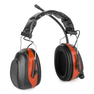Jackhammer 2.0 Orejeras de protección auditiva con radio FM, Aux In SNR 28 dB Rojo