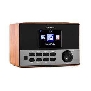 """Connect 90 WD Radio por internet WLAN AUX Pantalla TFT de color de 3,2"""" salida en línea Marrón"""