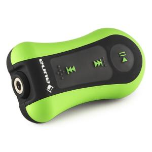 Hydro 4 Reproductor MP3 verde 4 GB IPX-8 Impermeable Clip incl. auriculares