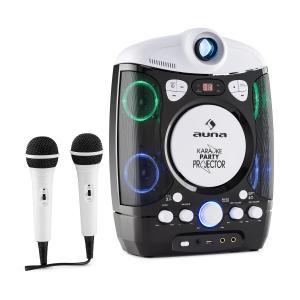 Kara Projectura equipo de karaoke con proyector show de luces LED negro-gris Negro