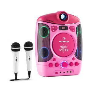 Kara Projectura equipo de karaoke con proyector show de luces LED rosa Rosa