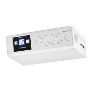 """KR-190 Radio de cocina con WiFi/Internet, app de control, monitor LCD-TFT de 3,2"""", en blanco Blanco"""