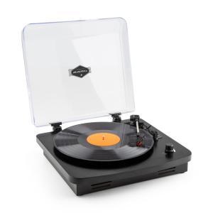 TT370 Tocadiscos retro Altavoz integrado USB MP3 AUX negro Negro